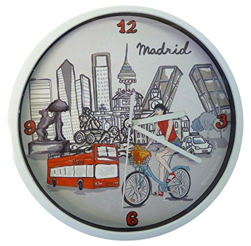 Nadal Uhr Madrid in Fahrrad, Mehrfarbig, 20x 20x 3,45cm Medium