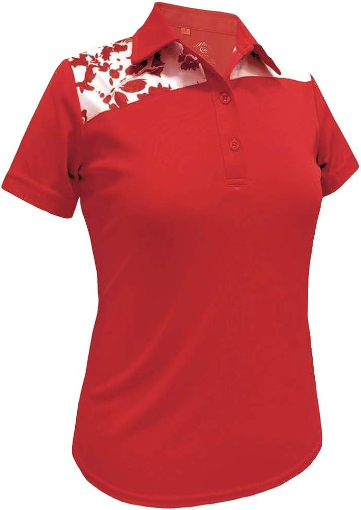 Monterey Club Women's Mellow Contrast Polo Shirt #2398