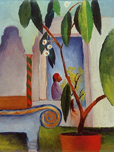 Artland Alte Meister Bild August Macke Wandbild 40 x 30 cm Arabisches Café Leinwandbild Expressionismus Kunst B4TM