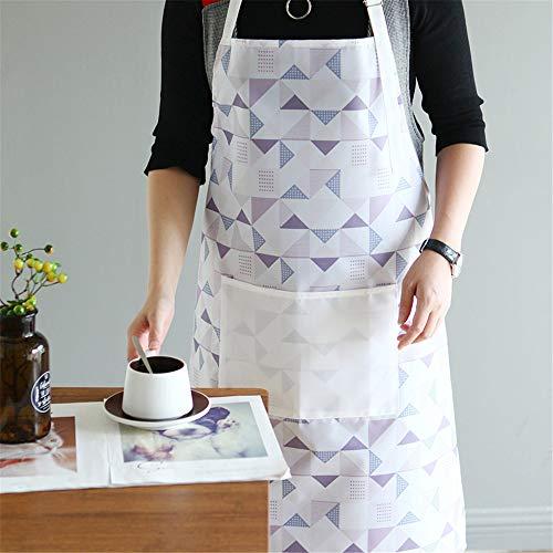 YXDZ Korean Mode PVC Einweg Küche Wasserdicht Öl Schürze Männer Und Frauen Hausarbeit Reinigung Burka Taille Plaid
