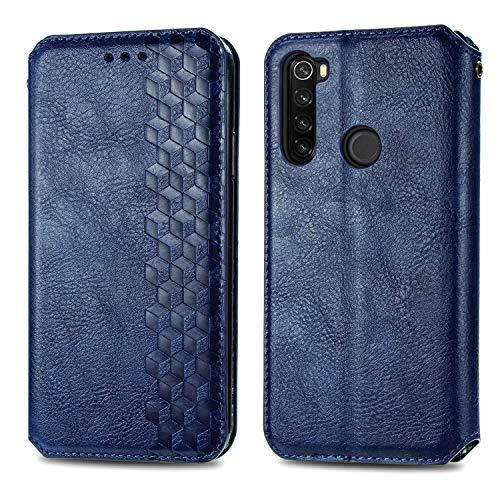 Trugox Funda Cartera para Xiaomi Redmi Note 8T de Piel con Tapa Tarjetero Soporte Plegable Antigolpes Cover Case Carcasa Cuero para Xiaomi Redmi Note 8T - TRSDA120738 Azul