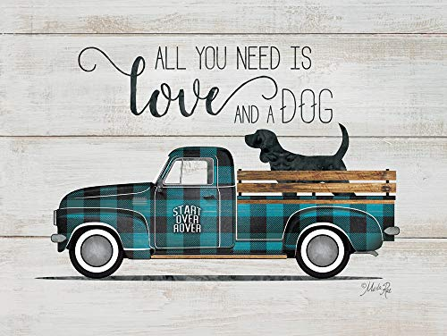 Rustic Pallet Art Love & a Dog-Vintage Truck Wooden Wall Hanging, 9