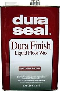 Dura Seal Durafinish Liquid Floor Wax - Coffee Brown - Gallon