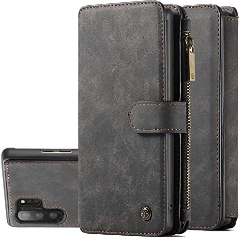 Galaxy Note 10 Plus Case, Note 10+ 5G Wallet, XRPow [2 in 1] Wallet [Detachable Magnetic] Leather Folio [Credit Card Holders] Purse Case Removable Slim Shock Back Flip Cover (Black)