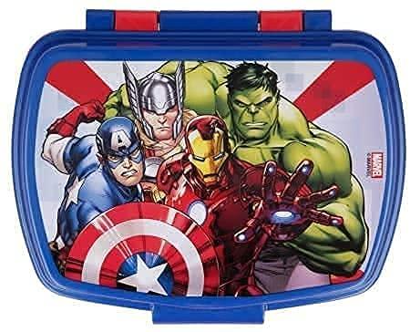 Contenitore Termico Porta merenda Scatola Sandwich Box per Bambini Avengers Supereroi