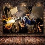 shuimanjinshan Red Dead Redemption 2 Juego Lienzo póster Pared Arte impresión Pintura Papel Tapiz Decorativo Cuadro de Pared para Sala de Estar (Py-1105) 50x70cm No Frame