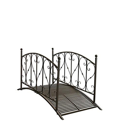 Gartenbrücke aus Metall mit Geländer - 2