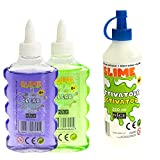 Nice Group - Slime Glue Clear, kit de 2 colas surtidos y 1 activador.