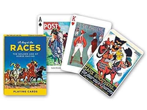 Piatnik A Day AT The Races - UN DÍA EN Las Carreras Poker Playing Cards Single Deck