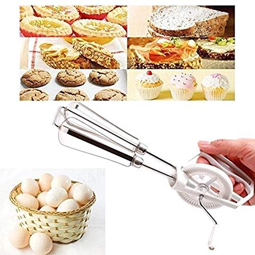 DULALA Batidoras Batidora Manual giratoria Batidor de Huevo de Acero Inoxidable Batidora Batidora Utensilios de Cocina