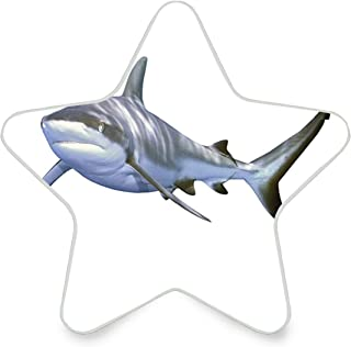 Colorful Plug in Night,A Large Reef Shark Swimming Futuristic Computer Art Stylized Underwater Design,Auto Sensor LED Dusk to Dawn Home Bedrooms Décor Night Light Plug in Indoor for Childs Adults