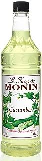 Monin - Cucumber Syrup, Refreshing Sweetness, Natural Flavors, Great for Mocktails, Cocktails, Lemonades, Teas, and Sodas, Vegan, Non-GMO, Gluten-Free (1 Liter)
