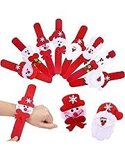 36pcs Slap Bracelet Muñeca Círculo Pulsera Santa Claus Navidad Regalo Cumpleaños para Niños Partido Suministra