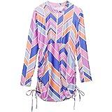 SwimZip Womens Swimsuit Swim Dress Cover Up UPF 50+ Pink Small