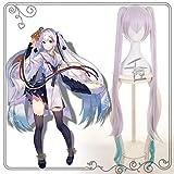 XIAOLUO Hatsune Miku cosplay peluca nieve Hatsune Miku peluca tocado Kagura campana especial para disfraces de cosplay o la vida diaria