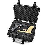 Lekufee Waterproof Hard Pistol Case for 2 Handguns and More Accessories
