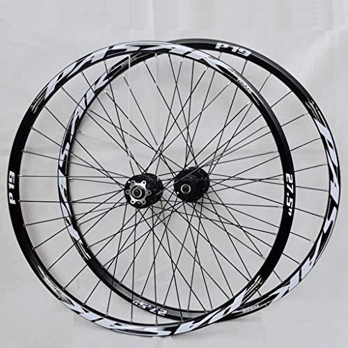 LSRRYD Set Ruote Bici MTB 26 27,5 29 Pollici Cerchi Doppia Parete Rilascio Rapido Freno Disco Ruote Ciclismo Bici 32 Ha Parlato Cassetta 7-11 velocità 2200g (Color : Brass, Size : 26inch)
