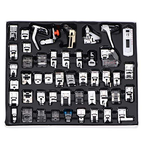 New KESYOO Sewing Machine Feet Rolled Hem Pressure Foot Rolled Hem Presser Feet Adjustable Guide Pre...