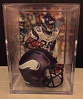 Minnesota Vikings Helmet Shadowbox w/ Adrian Peterson card