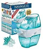 Naväge Nasal Irrigation Multi-User Bonus Pack: Navage Nasal Cleaner & 20 cápsulas de sal más un segundo muelle nasal (en verde azulado) y un par extra de almohadas nasales para una mejor higiene nasal.