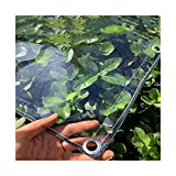 AMSXNOO Abdeckplane Transparente mit Ösen, 0,3mm Klare wasserdichte PVC Plane, Vielseitige Gemüseabdeckung für Pavillons Pavillon Terrassen Windschutz (Size : 2x3m)