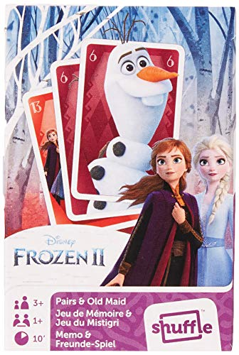 Frozen World Map II - 2 in 1 Card Games (Pairs & Old Maid)