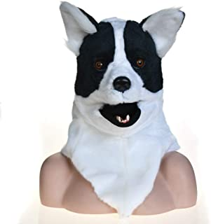 WNGCAR AU Full Head Animal Moving Mouth Cosplay Carnival Costume Dog Bleaching Anime mask for Sale (Color : Black)