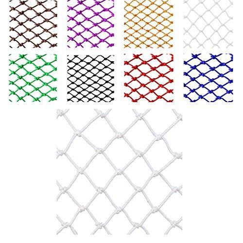 Anti-Fall-Sicherheitsnetz für Kinder, Weißes Schutznetz Seilnetz, Weißes Dekoratives Nylon-Seilnetz for den Außenbereich, Hochbett for Kinder, Balkon, Anti-Fall-Netz (Spezifikation: 6 Mm Seil, 4 Cm Lo