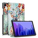 TOPCASE Soporte Funda Protectora para Samsung Galaxy Tab A7 10.4 Pulgadas SM-T500/T505/T507 2020 Carcasa,Ultra Delgado Stand Función Smart Cover Auto-Sueño/Estela,Deer