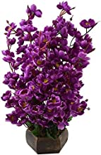 Badshah Gift Centre Synthetic Artificial Flower Blossom Basket for Home Decor Purpose (8x8x40 cm , Purple)