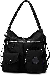 Mehrzweck Hobo Geldbörse für Frauen mit Anti-Diebstahl-RFID, wasserdichte Nylon Crossbody Tasche Schultertasche Handtasche...