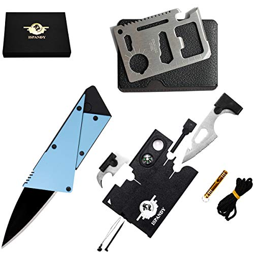 Credit Card Multitool Pocket Tool Kit Wallet Tool with Upgrade 18-IN-1 Credit Card Tool Survival kit,11-IN-1 EDC Multitool Card,Folding Card Knife (3 type/set EDC Knife Tactical Tool)Best Gift for Men