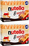 Ferrero: 'Nutella B-ready ' a crisp wafer of bread in the form of mini baguette stuffed with a creamy Nutella 15 pieces 10.13 oz (286g) Pack of 2 [ Italian Import ]
