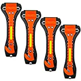 ZHSX Safety Hammer, 4 Pack Car Emergency Escape Tool Car Window Breaker and Seat...