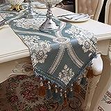 Qinqin666 Tischläufer Sinn für Mode der luxuriösen minimalistischen Stil Tisch Läufer Tischfahne Fahne A 35x160cm