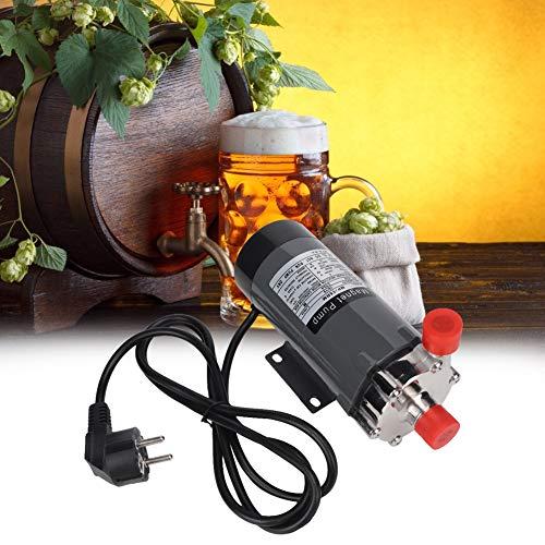 Bomba de elaboración de cerveza casera para Homebrew - Bomba de cerveza de elaboración de cerveza magnética resistente a altas temperaturas de acero inoxidable(Enchufe de la UE 220V)