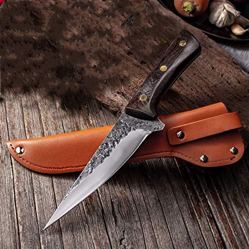 Cuchillo Cuchillo de deshuesado Cuchillo de pesca de acero inoxidable Cocina Hueso Peces de carne Sushi Cuchillo Fruta Verduras Herramienta de corte con cubierta de cuchillo cocina