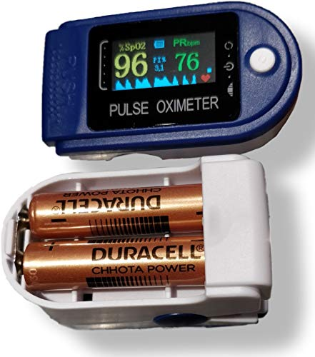 Tamizhanda P-01 Pulse Oximeter - Blue. Powerful DURACELL battery inside. 9 month WARRANTY. 98% Accurate Pulse Oximeter.