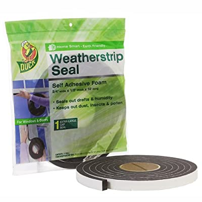 Duck Brand Self Adhesive Foam Weatherstrip Seal