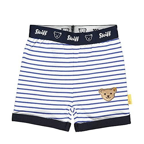 Steiff Shorts Pantalones Cortos, Blanco Brillante, 18 Meses Bebé-Niños