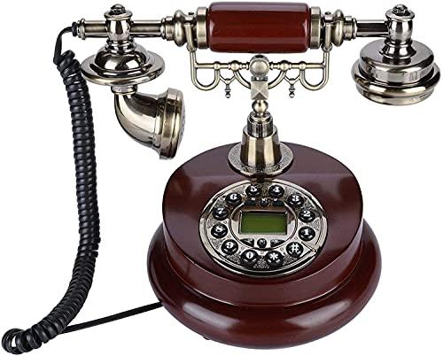JDJFDKSFH Teléfonos Vintage Retro Teléfonos con Cable Teléfonos fijos Antiguos - Teléfono Antiguo de Alta Gama para la Oficina domiciliaria Decorativa, con Cable Línea Fija