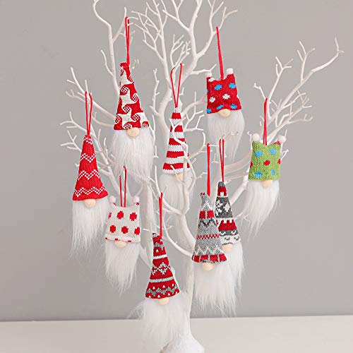 Brandles New Christmas Ornaments 2020, Christmas Tree Decorations Gnomes Set of 9, Xmas Tree Gifts Christmas Decor Indoor Decorative Hanging Ornaments (9 PCS)
