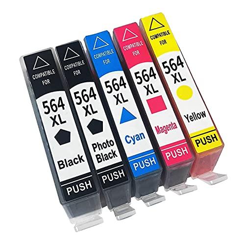SVUZU Cartuchos De Tinta Reemplazo para HP 564XL, Compatible con OfficeJet 4610 4620 Photosmart D5445 D5460 D5463 Premium C309A C309G C309N Impresora 1set