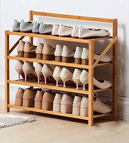 XYCSM Zapatero,Estante de Zapatos de Bambú Plegable, Estante de Alenamiento Del Organizador de Zapatos Portátiles, sin Instalación Roses de Zapatos Independientes para el Pasillo Cu