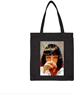 GWFVA Canvas Shoulder Hand Bag Women Girl Pulp Fiction Don't Be A Tote Shopping Party Bag Crossbody Bag Day Bag Gifts35X41Cm