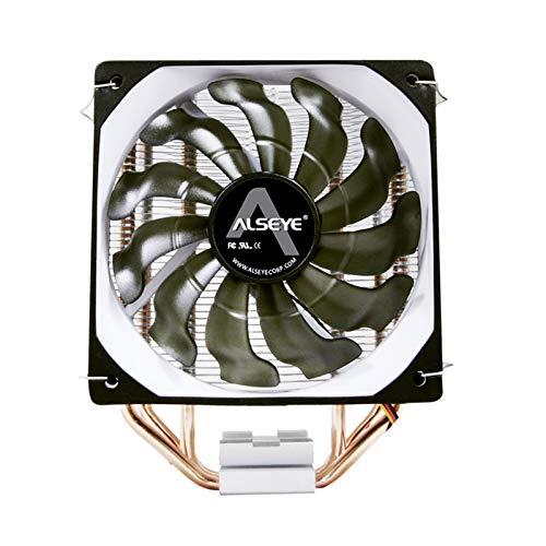 SymArt cojín de enfriamiento CPU Cooler 3 Ventilador de CPU Tropical de 120 mm para Intel LGA 1155 / 775AM2 + / AM3 + / AM4 para Laptop