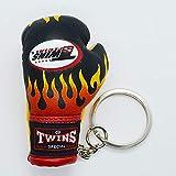 TWINS ボクシンググローブ キーリング 黒ファイヤー キーホルダー ストラップ ツインズ ボクシング 格闘技 リアル ミニ ムエタイ 人気商品
