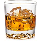 Whiskey Glass Set of 4 with Brilliant Mountain Imprint. Perfect for Whiskey, Bourbon, Scotch and Cocktails. Classic Design with a Modern Touch. Best Large 11.5 Ounce Premium Tumblers.