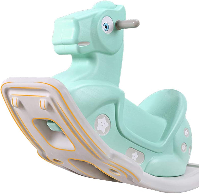 FJH Kinder Schaukelpferd Spielzeug Baby Trojaner Baby Schaukelpferd Groes dickes Baby 1-2 Jahre alt Geschenk Geburtstag Mode