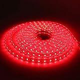 Rollo Tira LED cortable por metros 8mm SMD2835 color Rojo cubierta de silicona 1 metro 220v
